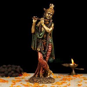 Lord Krishna Figurine Statue Temple Sculptures God Of Love Hindu Deity Gifts