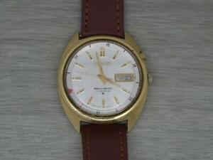 Vintage Gold/Steel Mens Seiko Bell-Matic 4006-6011 Alarm Day Date Wrist Watch