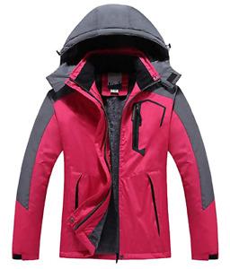 Couple Men & Ladies Mountain Waterproof Fleece Ski Jacket Windproof Rain Jacket