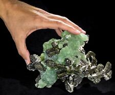 Very Large Prehnite, Epidote & Stilbite Mineral Specimen from Mali