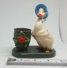 VINTAGE Goose GEESE hard PLASTIC FIGURINE dedk table DECORATION fr HONG KONG