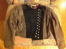 Ondie Towne Brown and Black Leather Jacket, Women's, size large