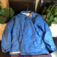 Vintage Sears Outerwear Mens Large Tall Windbreaker Jacket Navy Blue Cotton