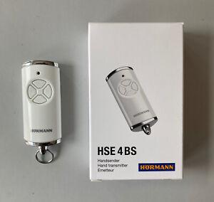 Hörmann Handsender HSE 4BS - 868,3 MHz BiSecur- Fernbedienung Hochglanz weiß