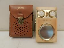 VINTAGE 1950s ZENITH ROYAL 500 ANTIQUE MID CENTURY WORKING TRANSISTOR RADIO