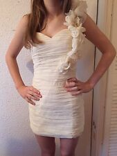 Rare Cream Size 8 Mini Ruffle Dress