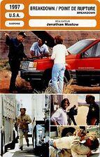 Movie Card. Fiche Cinéma. Breakdown / Point de rupture (USA) Jonathan Mostow1997