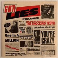 GUNS N' ROSES G N' R LIES CD GEFFEN USA 1988 SILVER FACE PRESS