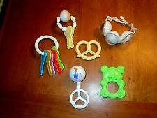 Vintage Baby Rattles Teethers Chew Toys The First Years Keys Wrist Rattle Euc