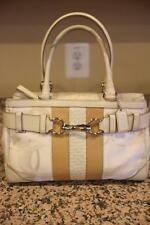 Coach Optic Signature Stripe Gallery Bag Carryall Shoulder Bag #F13337 (u180