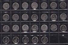 Canada 10 Cent Coin Collection Dates From 1968 to 2013 All Different 26 Coins