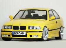 1:18 Custom [E36 BMW M3 COUPE (Dakar Yellow) ALPINA MODIFIED TUNING UMBAU Code 3