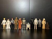 Vintage Star Wars Kenner Original First 12 Figure 1977 Luke Leia Han Vader R2-D2