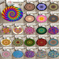 Mandala Islamic Form Round Yoga Mat Rugs Floor Bathmat Rug Non-slip Beach Carpet