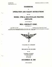Bell YFM-1 Airacuda Aircraft manual 1940's RARE PERIOD Historic Archive detail