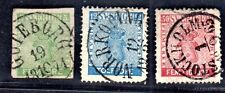 Sweden 1858 Sc. 6,8,12 Sc. 6,15 Imperf Unlisted, Neat Cancels