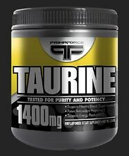 Primaforce Taurine Powder PUMPS ENDURANCE ENERGY 1400mg, 250 Grams - NEW