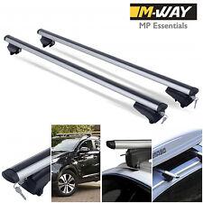M-Way 120cm Aluminio Bloqueable Baca Barras de carril al ras para Seat Altea XL 2009 >
