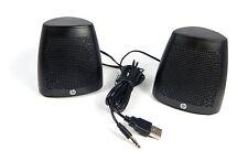 HP BLACK S3100 USB POWERED SPEAKER V3Y47AA (NEW - BULK) T15