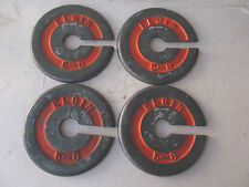 Vintage-ELGIN Cast Aluminum Scale Weights 4 pcs-WEIGHS 2.5 LBS