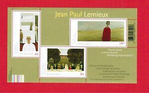 2004 - # 2068 -  MINT CANADA  STAMPS  - JEAN PAUL LEMIEUX - SOUVENIR SHEET no20