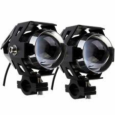 Pair Spotlights Spare Black LED 15W Triumph Rocket Bonneville Thunderbird