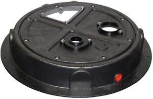 Pump Well Cap Radon Mitigation Basin Cover Sump THD1085 24 in Floor Drain Plug