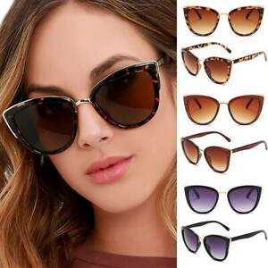 Damen Vintage Fashionbrille Sonnenbrille Oversized Katzenauge Cat Eye Sunglasses