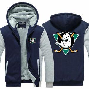 Anaheim Ducks Fans Men Hoodie Fleece Coat winter warm Jacket Thicken Sweatshirt