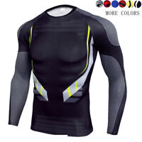 Men's Cool Dry Sports Compression Long Sleeve Baselayer Workout T-Shirts Camo