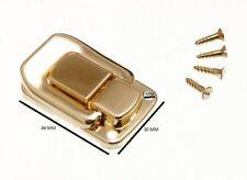 Funda cierre de palanca para cajas 48mm x 33mm latonado cant. Pack de 2