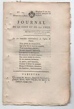1792 JOURNAL REVOLUTION LE PETIT GAUTIER N°15 + SUPPLEMENT