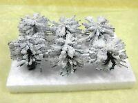 6 Büsche m Schnee Höhe ca. 3,0 cm Eisenbahn Modellbau Landschaft Jordan 9F 45257