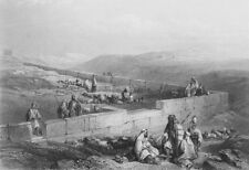 ISRAEL. Masonry, Hebron-Bartlett 1847 old antique vintage print picture