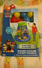 Nickelodeon Paw Patrol Ball Pit Playland with 20 Soft Flex Balls New Free Ship!