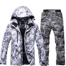 Men Winter Warm Ski Coat+Pants Waterproof Clothes Ski Snowboard Jacket snowsuits