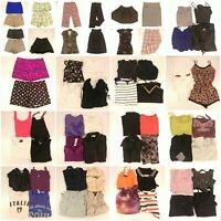 Huge Lot Womens Small Summer Fashion Clothes Pants Shorts Skirts Tops Wholesale