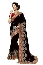 Silk Designer Embroidery Saree for Indian Ethnic Wedding Party wear Sari (K827)