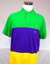 NWT Polo by Ralph Lauren Multi-Color Color Block Polo S/S Shirt Men's Large,L