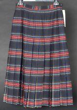 Vintage Pendleton Wool Skirt Black Stewart Tartan Womens 10 New with Tags