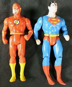 S743. SUPER POWERS COLLECTION Flash & Superman Action Figures (1980's)