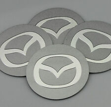 "4x 56mm 2.2"" Auto Car Wheel Center Hub Cap Emblem Stickers Badge for Silver flat"