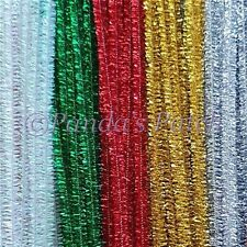 """Tinsel Glitter Craft Stems Pipe Cleaners 12"""" 30cm Free Post"""