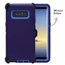 For Samsung Galaxy Note 8 Defender Case Cover [Belt Clip Fits Otterbox] Navy