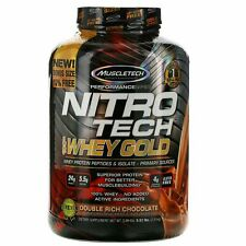 Muscletech Nitro Tech WHEY GOLD Protein 5.53 lb, 76 Serves DOUBLE RICH CHOCOLATE