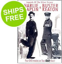 Charlie Chaplin & Buster Keaton Silver Screen Legends (DVD 2004 2-Disc Set) NEW