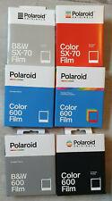 Polaroid SX 70 und 600 Sofortbildfilm Farbe Schwarz/Weiß + Zubehör ND Filter