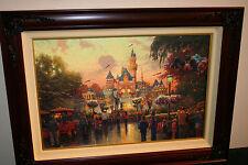 Thomas Kinkade Disneyland 50th Anniversary 18x27 Studio Proof Canvas 29 / 80