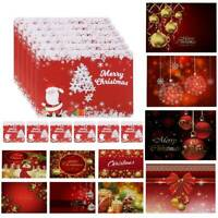 Set of 2 Place Mats And Coasters Christmas Santa Snowman Dining Table Placemats