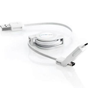 Retractable USB Cable to mini USB or micro USB over 30 inches with FREE Delivery